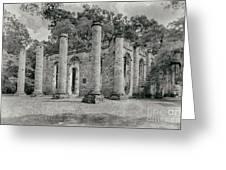 Old Sheldon Church Ruins, South Carolina Greeting Card