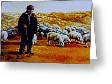 Old Shepard From Mt. Peshter Greeting Card