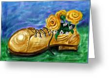Old Shoe Planter Greeting Card