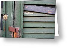 Old Shutters French Quarter Greeting Card