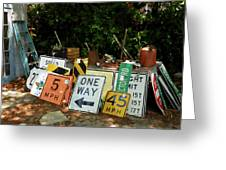 Old Sign Greeting Card