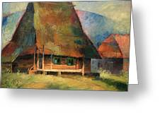 Old Small House Greeting Card