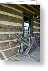 Old Spinning Wheel Greeting Card