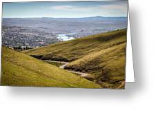 Old Spiral Highway To Lewiston Greeting Card