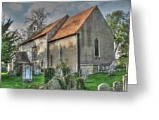 Old St Mary's Walmer Greeting Card