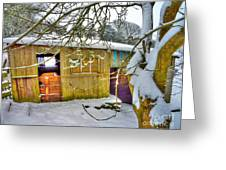 Old Stable - Silent Winter Greeting Card
