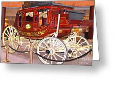 Old Stagecoach - Wells Fargo Inc. Greeting Card