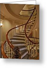 Old State House Spiral Staircase Greeting Card
