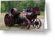 Old Steam Tractor Greeting Card