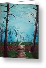 Old Steps To The Horizon Greeting Card