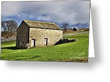 Old Stone Barns Greeting Card