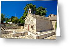 Old Stone Chapel In Primosten Greeting Card