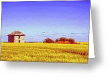 Old Stone Farmhouse Tuscany Greeting Card