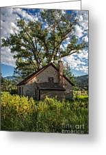 Old Stone Ranch Structure Greeting Card