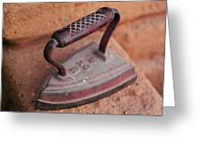 Old Stove Iron Greeting Card