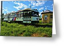 Old Street Car In Upstate New York Greeting Card