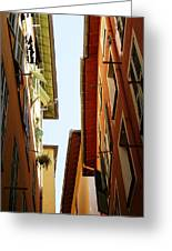 Old Street In Nice Greeting Card