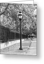 Old Street Lights Greeting Card