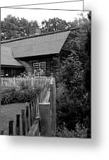 Old Sturbridge House In Black And White Greeting Card