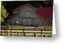 Old-style Horse Barn Greeting Card