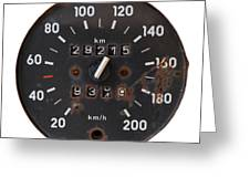 Old Tachometer Greeting Card