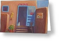Old Taos Grocery Greeting Card