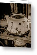 Old Tea Kettle In A Miner's Cabin Greeting Card