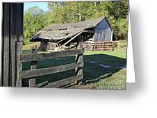 Old Tilted Barn Indiana Greeting Card