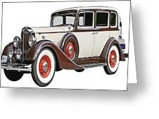 Old Time Auto Greeting Card