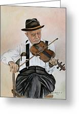 Old Time Fiddler Greeting Card