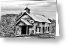 Old Time Religion Bw Greeting Card