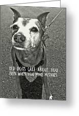 Old Timer Quote Greeting Card