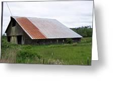 Old Tin Roof Barn Washington State Greeting Card