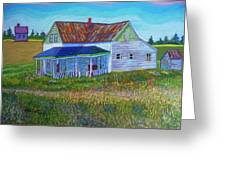 Old Tin Roof Greeting Card