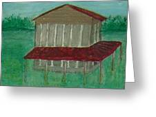 Old Tobacco Barn Greeting Card