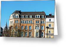 old Town buildings in Aachen, Germany Greeting Card