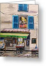 Old Town Cafe Greeting Card