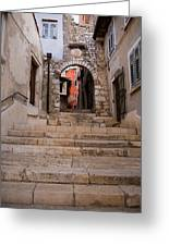 Old Town Entrance Greeting Card
