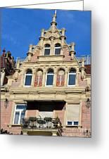 Old Town House Facade In Baden-baden Greeting Card
