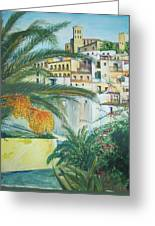 Old Town Ibiza Greeting Card