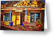 Old Town Ice Cream Parlor Greeting Card