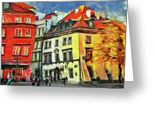 Old Town In Warsaw # 27 Greeting Card