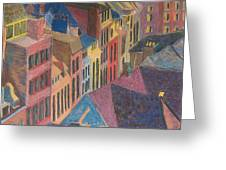 Old Town Greeting Card by Lucinda  Hansen