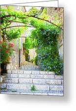 Old Town Of Provence Street Greeting Card