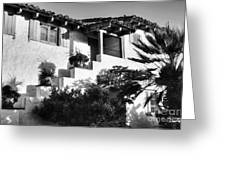 Old Town San Diego Shadows Bw Greeting Card