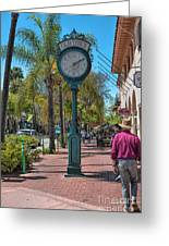 Old Town Santa Barbara Greeting Card