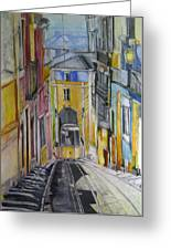 Old Town Streets Greeting Card