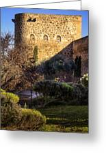 Old Town Walls Toledo Spain Greeting Card