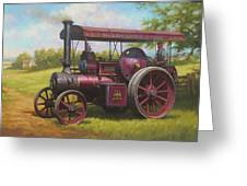 Old Traction Engine. Greeting Card