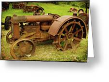 Old Tractor Graveyard Greeting Card